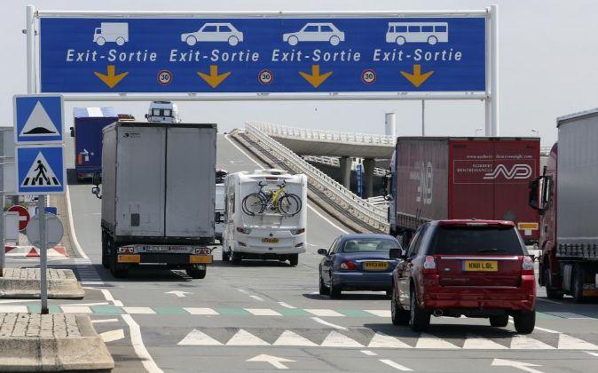 Paso fronterizo entre Francia y Reino Unido en Calais.