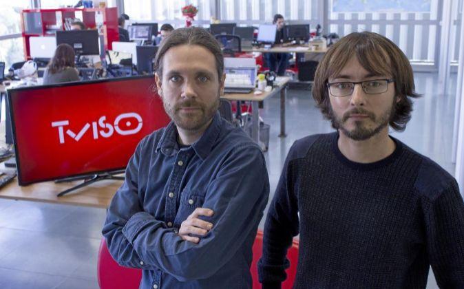 Andreu Caritg (izquierda) junto a Oriol Solé, cofundadores de Tviso.