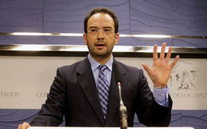 Antonio Hernando, portavoz socialista en el Congreso, en una imagen de...