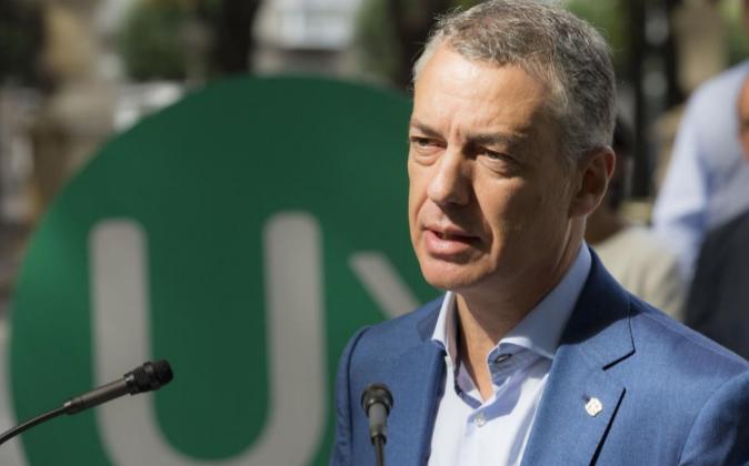 El lehendakari y candidato a la reelección, Iñigo Urkullu,...