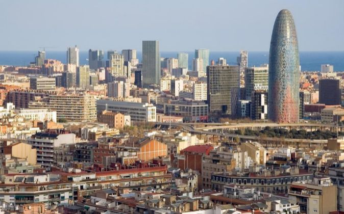 Vista general de la ciudad de Barcelona.