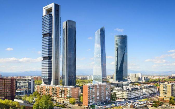 Complejo de las Cuatro Torres en Madrid.