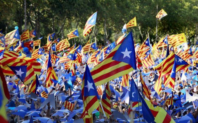 Menifestación en Barcelona el 11 de septiembre del año pasado.