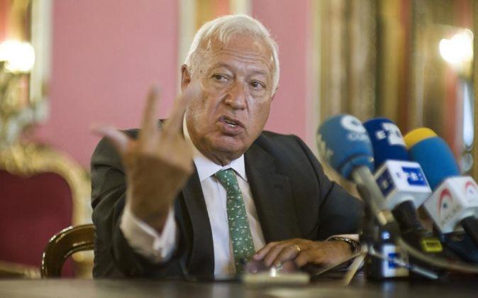 El ministro de Asuntos Exteriores en funciones José Manuel...