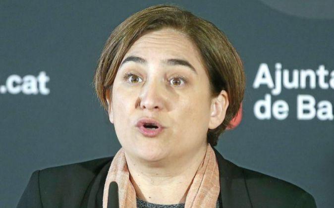 ¡La alcaldesa de Barcelona Ada Colau.