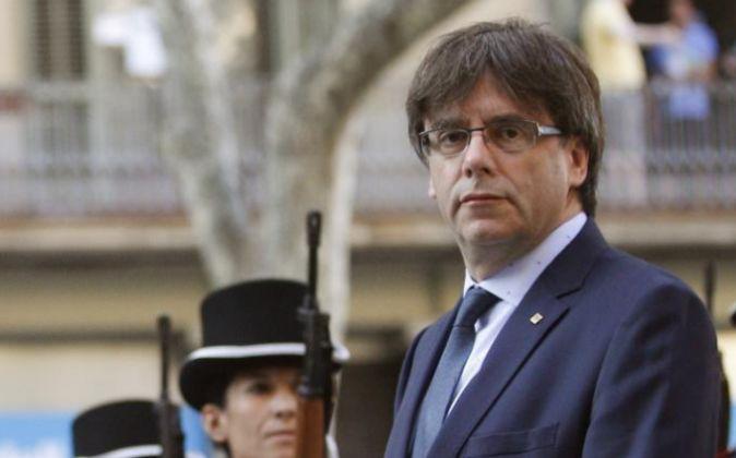 El presidente de la Generalitat, Carles Puigdemont, preside la...