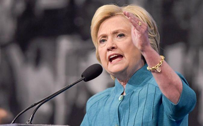 La candidata demócrata a la presidencia de Estados Unidos Hillary...