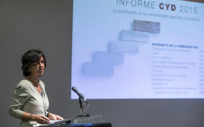 La presidenta de la Fundación CYD, Ana Botín