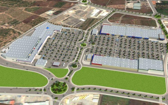 Imagen virtual del nuevo centro comercial en Sagunto.