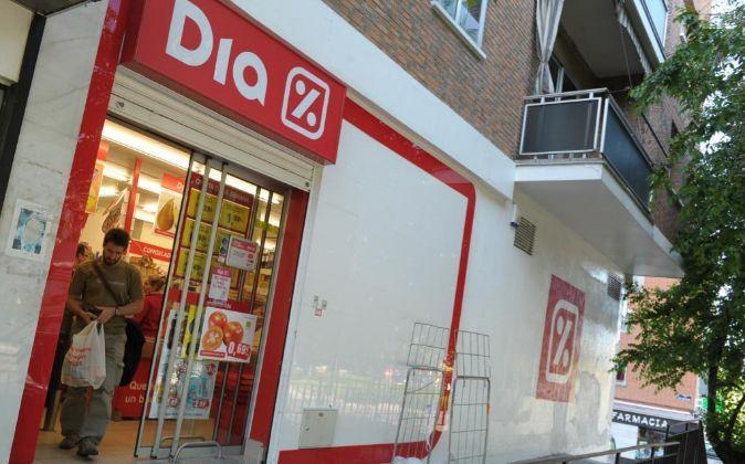 Imagen de un supermercado Dia en Madrid.
