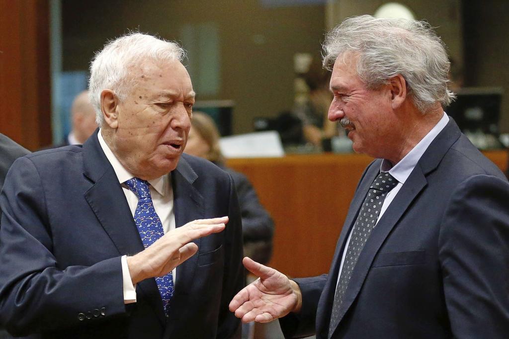 El ministro español de Asuntos Exteriores, José Manuel...
