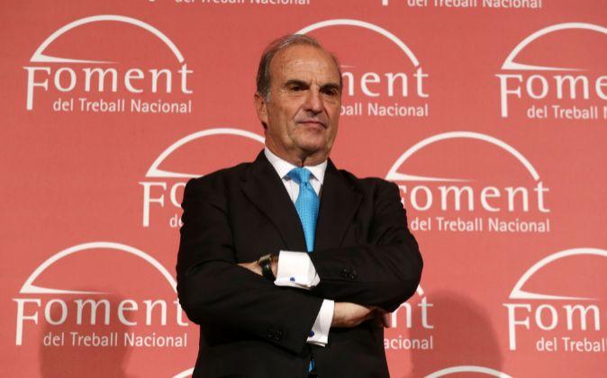 Joaquim Gay de Montellà, presidente de Fomento del Trabajo.