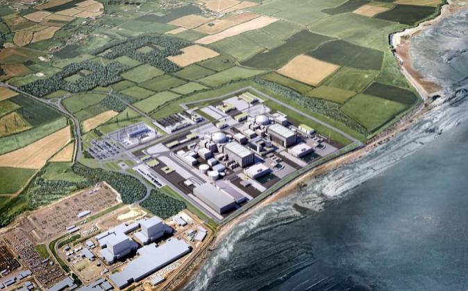 Recreación virtual de como será la planta nuclear Hinkley Point C