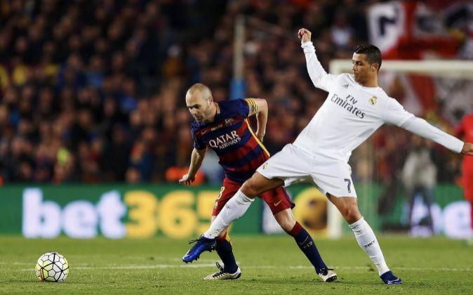 Andrés Iniesta y Cristiano Ronaldo.