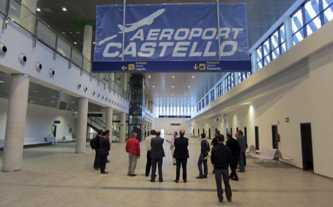 La terminal del aeropuerto de Castellón.