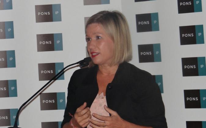 Nuria Marcos, directora general de PONS IP, en la presentación de la...