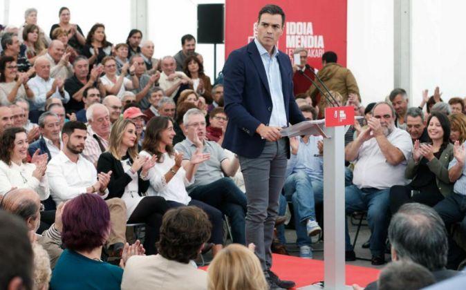 El secretario general del PSOE Pedro Sánchez.