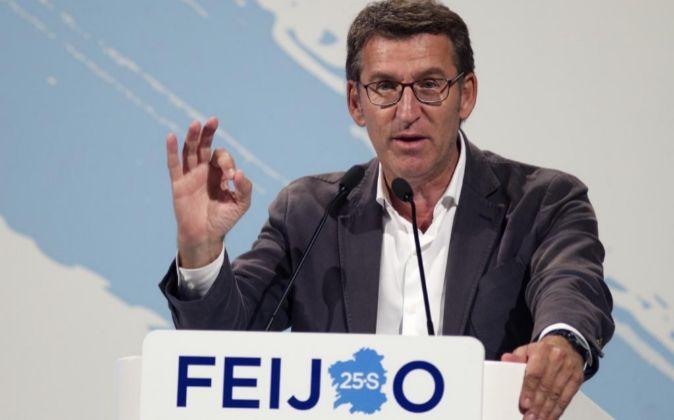 El presidente del PPdeG y candidato a la reelección, Alberto Núñez...