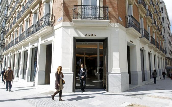 Tienda de Zara en la Calle Serrano (Madrid).