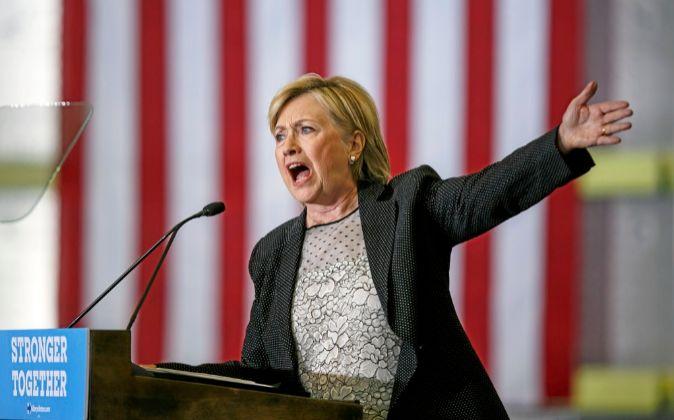 Hillary Clinton, en un acto de campaña.