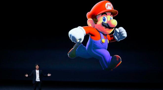 El japonés Shigeru Miyamoto durante la presentación de la...