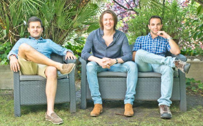 Luis Gelado, CFO, Manuel de la Esperanza, CEO, y Pablo Clemente, CTO...