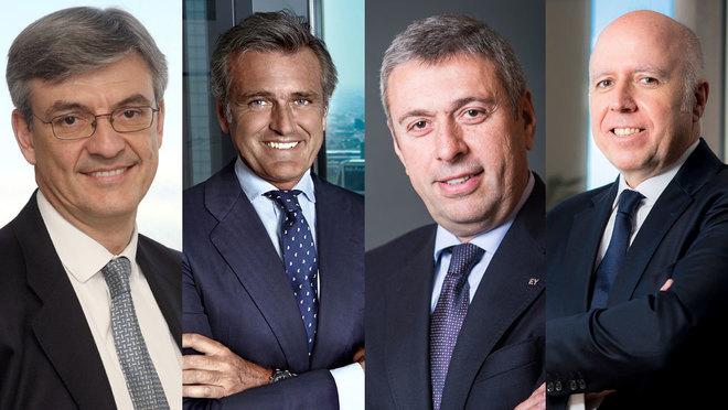 Fernando Ruíz (Deloitte), Gonzalo Sánchez (PwC), José Luis Perelli...