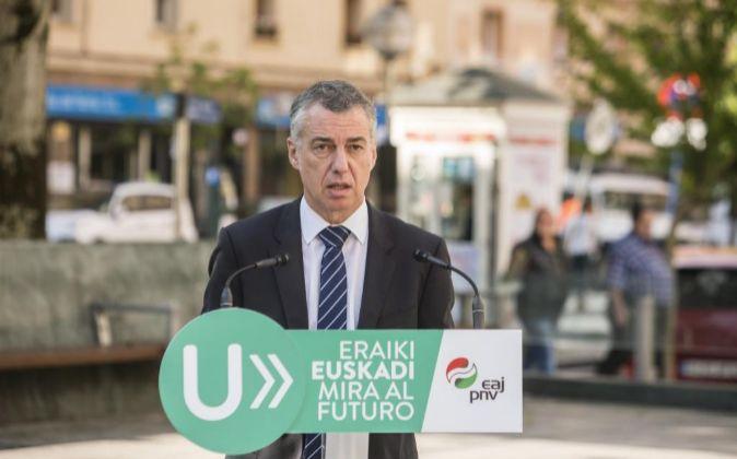 El lehendakari y candidato a la reelección por el PNV, Iñigo...