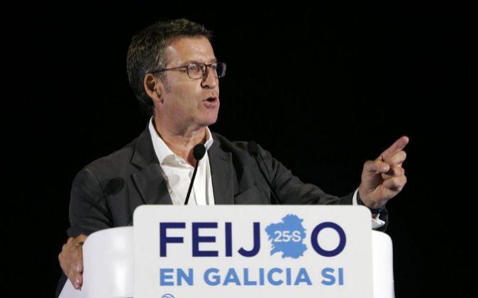 El candidato del PPdeG a la presidencia de la Xunta, Alberto Núñez...