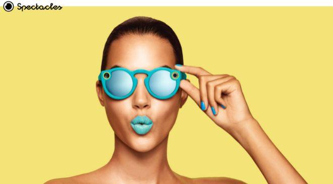 Aspecto de las Spectacles en su versión azul.