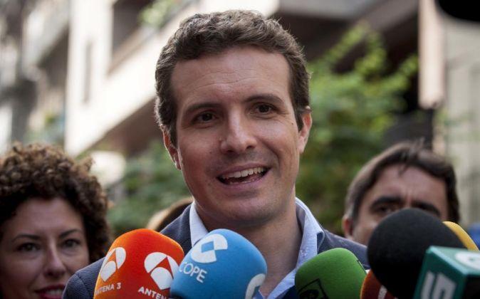 El vicesecretario de comunicación del PP Pablo Casado.