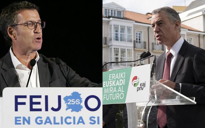 El candidato del PP y actual presidente de la Xunta, Alberto Nuñez...