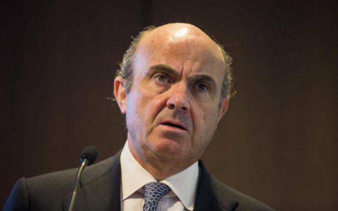 El ministro español de Economía en funciones, Luis De Guindos.