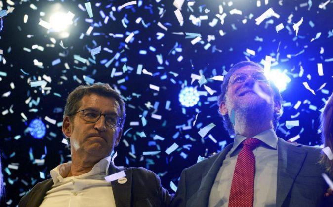 El candidato del Partido Popular a la Xunta de Galicia, Alberto...