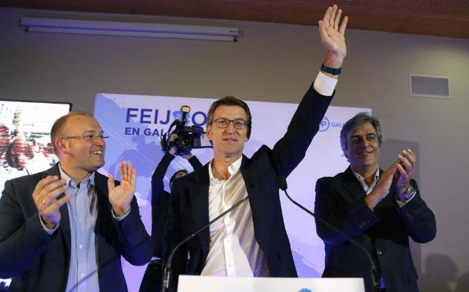El presidente de la Xunta y candidato a la reelección, Alberto Nuñez...