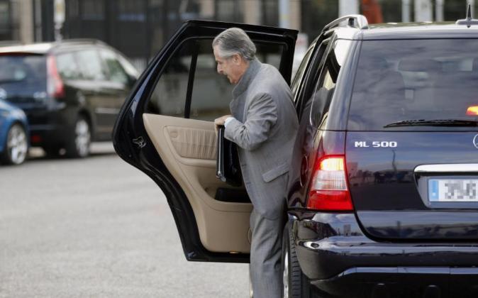 El expresidente de Caja Madrid Miguel Blesa a su llegada a sede de la...