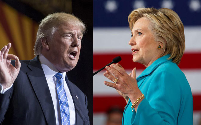 Donald Trump (izqda.) y Hillary Clinton (drcha.) estarán frente a...