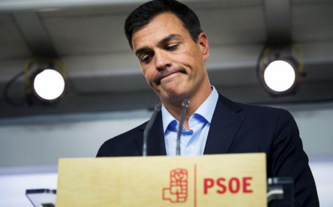 El líder del PSOE, Pedro Sánchez, no ha podido maquillar la derrota.