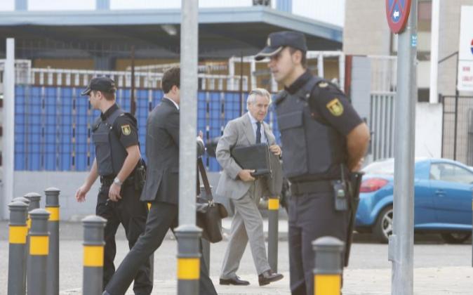Miguel Blesa, a su llegada ayer a la Audiencia Nacional.