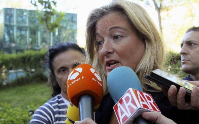 La abogada de Manos Limpias Virginia López Negrete a su llegada esta...