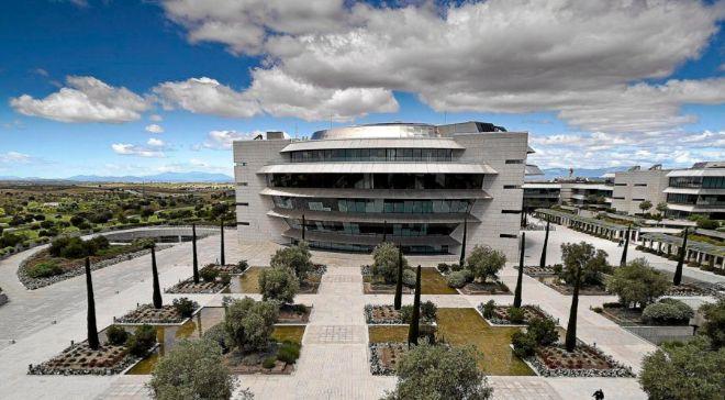 Vista general de la Ciudad Financiera del Santander, en Boadilla del...