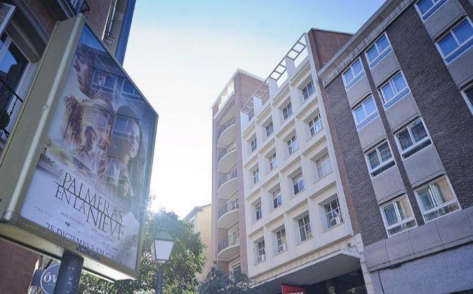 Edificio en la calle Fuencarral de Madrid.