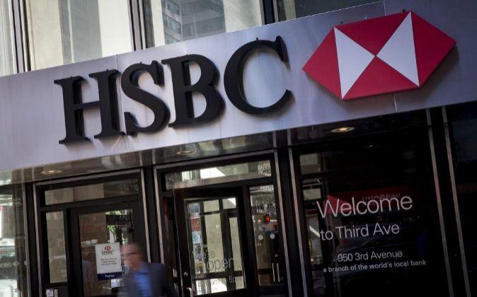 Oficina de HSBC en Nueva York.