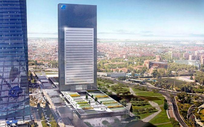 Imagen del proyecto de la quinta torre, donde IE Business School...