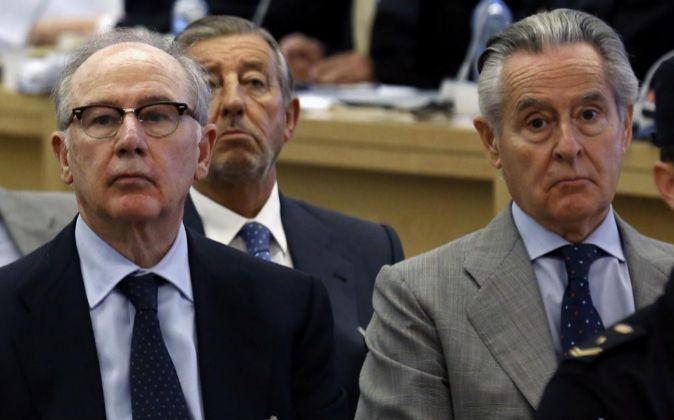 Rodrigo Rato y Miguel Blesa durante una de las sesiones del juicio.