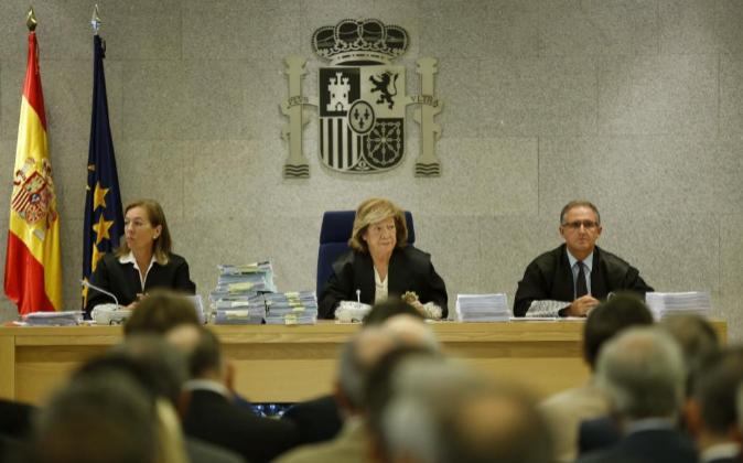 La Audiencia Nacional durante el juicio por las  tarjetas...