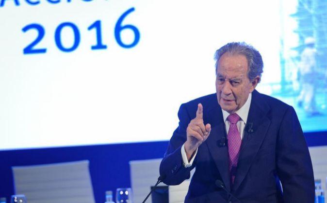El presidente de OHL, Juan Miguel Villar Mir.