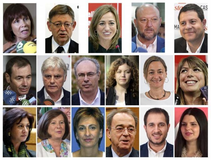 Combo de imágenes de los 17 críticos a la gestión del secretario...