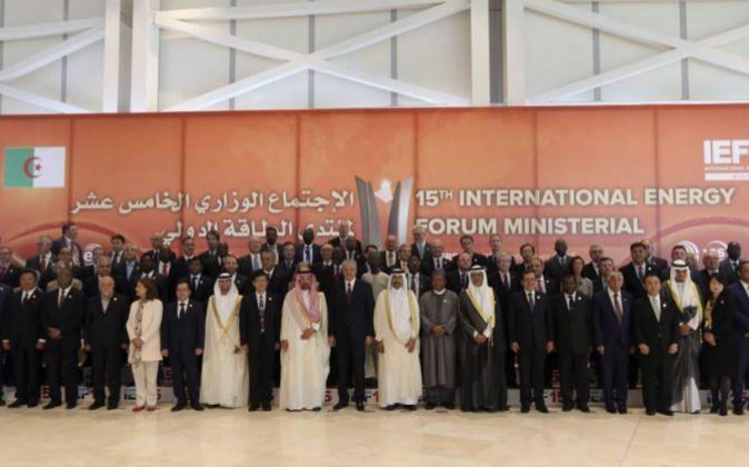 Imagen de la reunión del Foro Internacional de Energía en Argelia