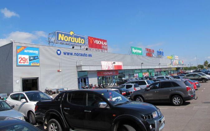 Imagen del centro comercial Portal Mediterráneo, en Vinaroz...